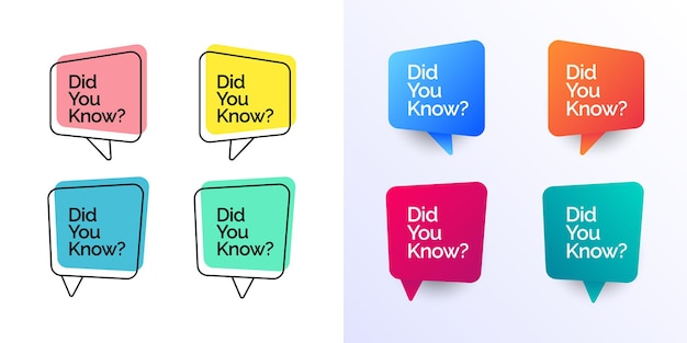 Did you know with speech bubble design template