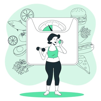 Diet concept illustration