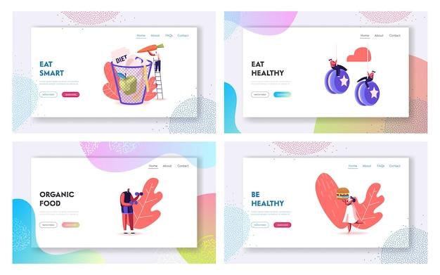 Набор шаблонов целевой страницы при отказе от диеты.