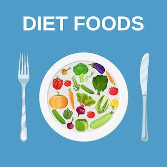 ダイエット食品。ダイエットと栄養。