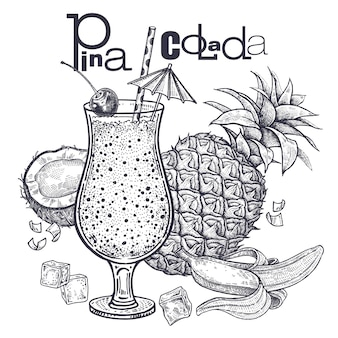 Diet food smoothies. pina colada.