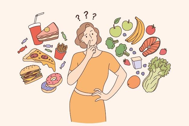건강한 라이프 스타일 체중 감량 개념 다이어트