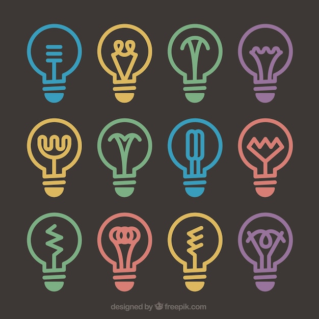 Diferents lightbulb designs
