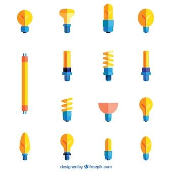 Diferents styles of lightbulbs