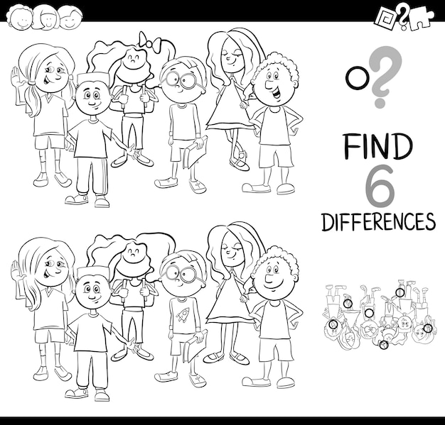 Difference activity coloring page