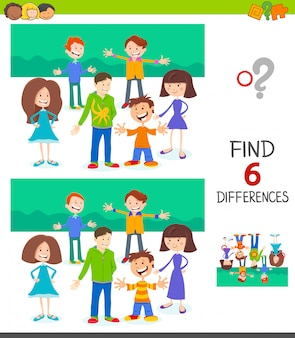 Differences educational game for children