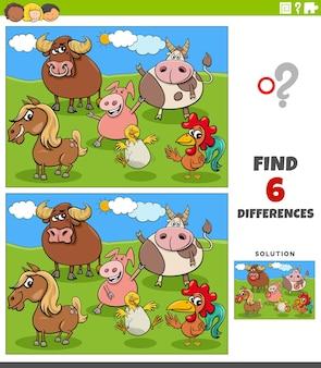 Развивающая игра с мультяшными животными на ферме