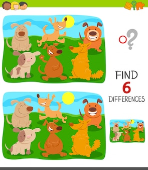 Differences educational game with dogs