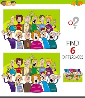 Differences educational game with funny people