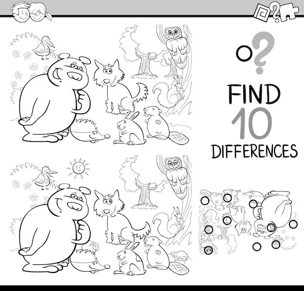 Отличия игра раскраски