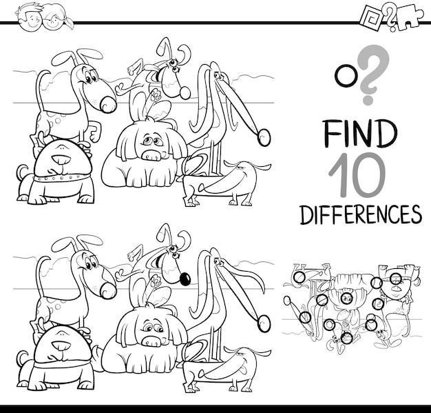 Игра различия для окраски