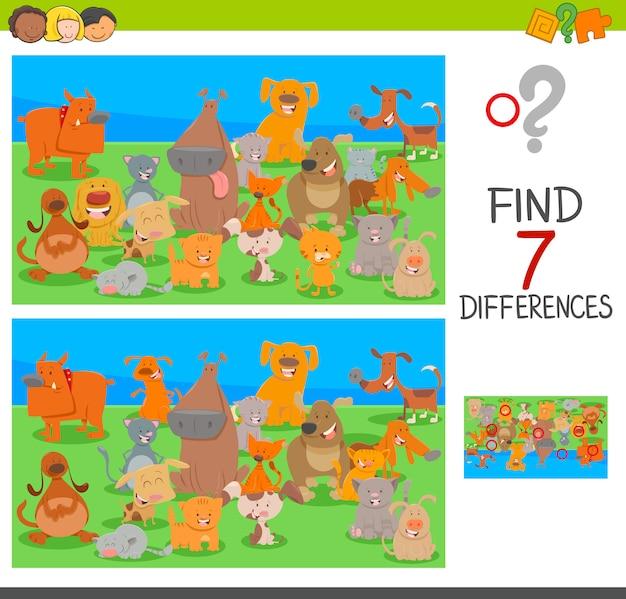 犬と猫のキャラクターとの違いのゲーム