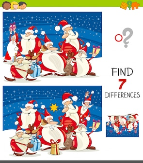 Differences game with santa claus