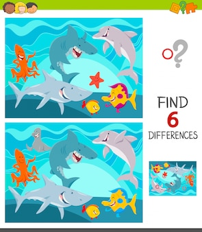 Differences between pictures educational game