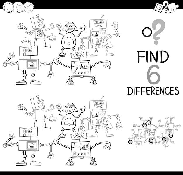 Отличия от страницы раскраски роботов
