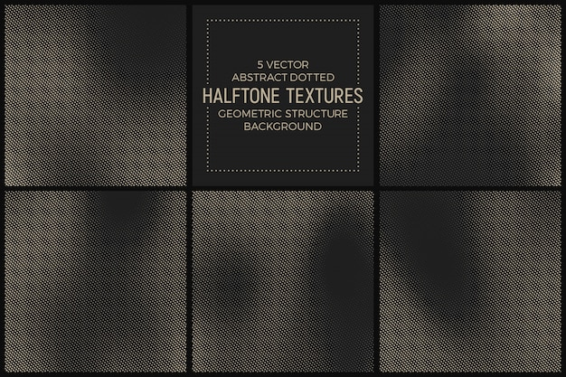 Different abstract halftone textures set