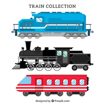 Different ages train collection