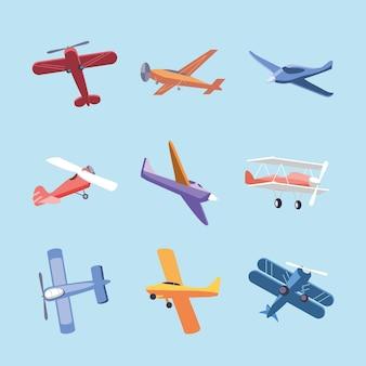 Различные символы самолета