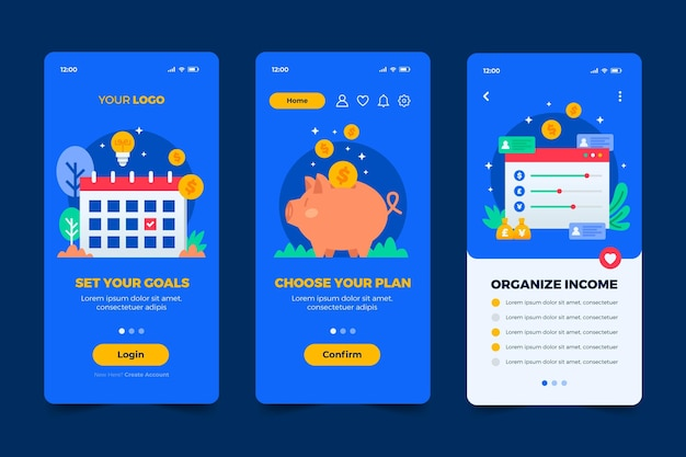 Different app concepts template