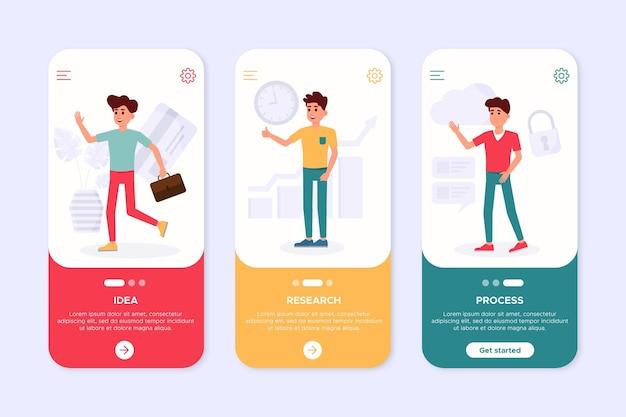 さまざまなアプリの概念