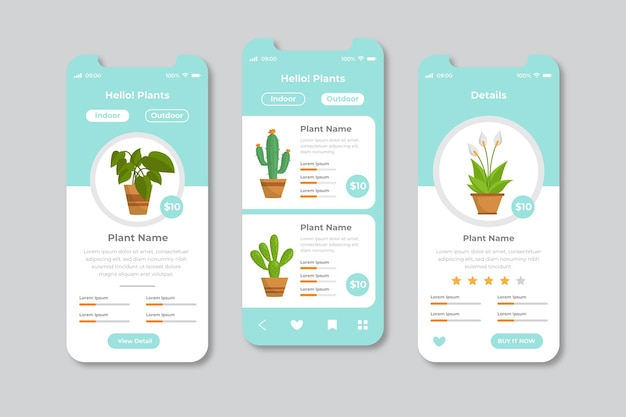 Different app interface concepts