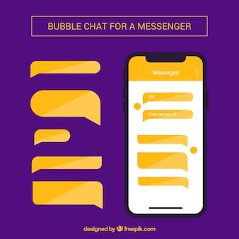 메신저 응용 프로그램에 대한 다른 거품 채팅