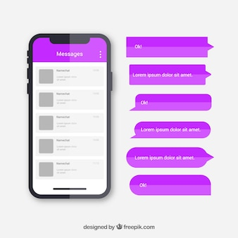 Different bubbles chat for messenger application