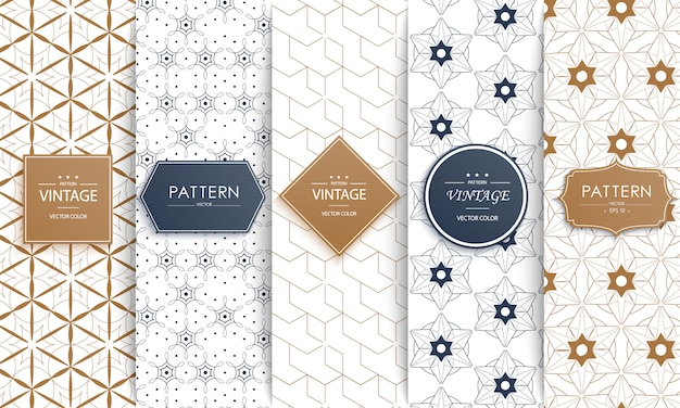 Different classic geometric patterns.