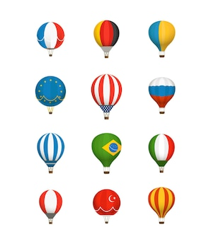 다른 색상 baloons 벡터 컬렉션입니다. 국기