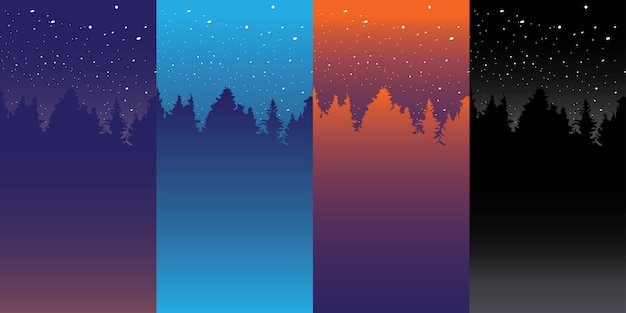 Different color night sky background