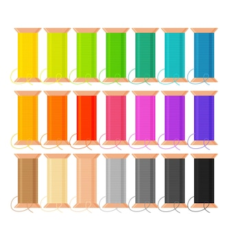 바느질 바느질 장비 재봉 및 의류 수리를위한 실의 다른 색상 스풀 세트