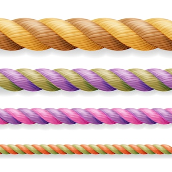 Different color thickness 3d rope line set