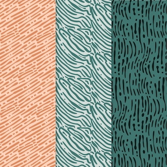 Different colored rounded lines patterns collection