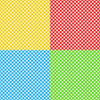 Different colors checked fabric tablecloth texture seamless pattern