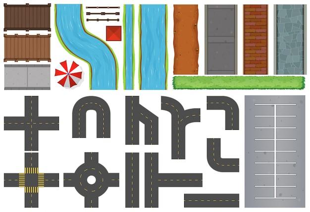 Различные конструкции дорог и тротуаров