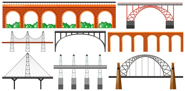 橋の異なるデザイン
