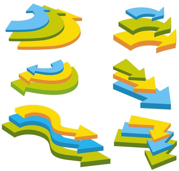 다채로운 화살표의 다른 디자인