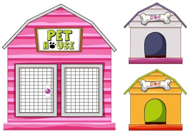 犬小屋の異なるデザイン