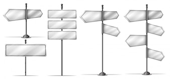 Different design of steet signs