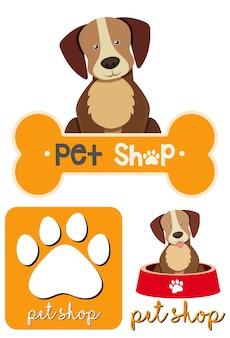 Различные дизайны логотипа для домашних животных