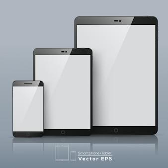 空白の画面と異なるデバイス