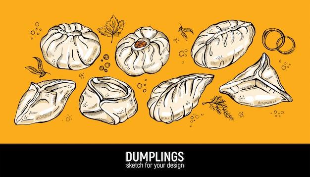 Different dumplings types.