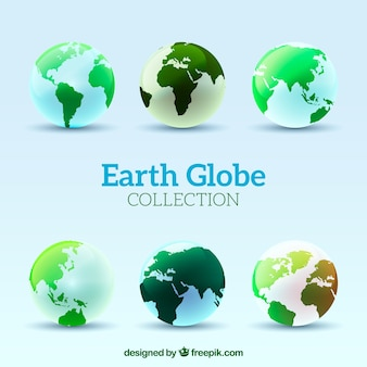 Different earth globes