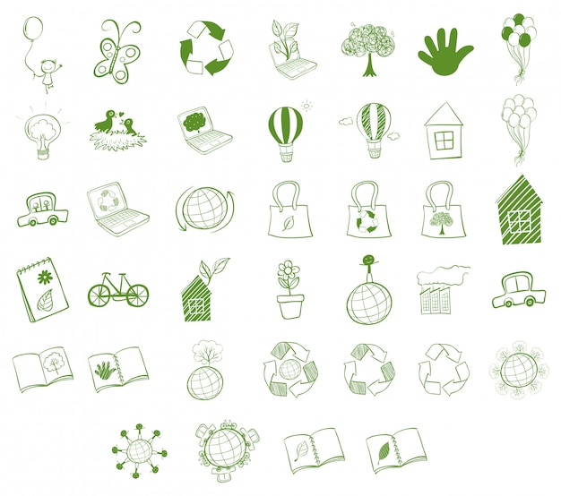 Different eco-friendly objects