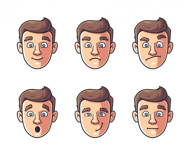 Different emotions of one character