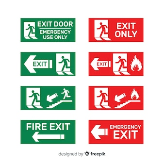 Different exit signs