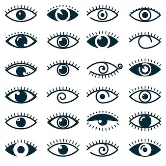 Different eyes icon collection