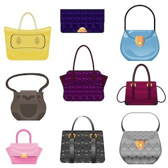 Набор различных модных женских сумок