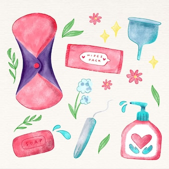 Different feminine hygiene products