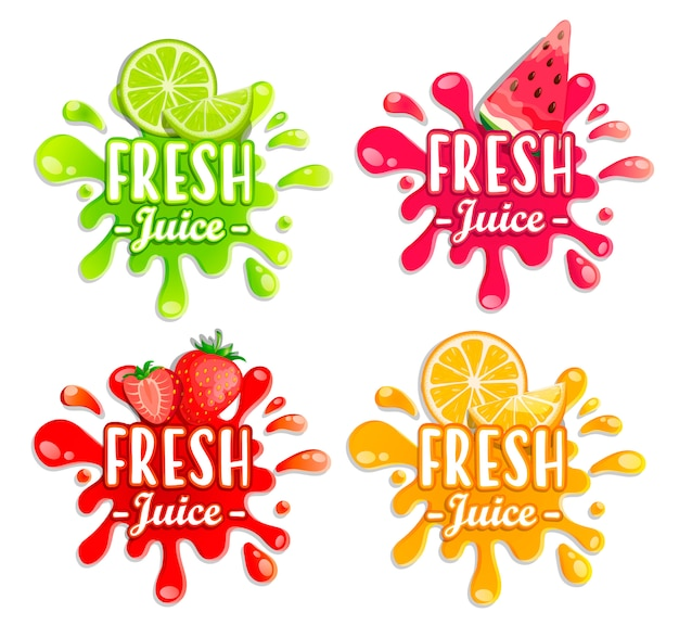 Different fruit splashes